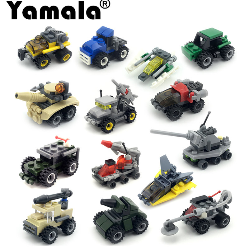[Yamala] Military Fire Rescure Serie Car Helicopter Building Block Toys legoingly Technic City Soldiers Car bricks