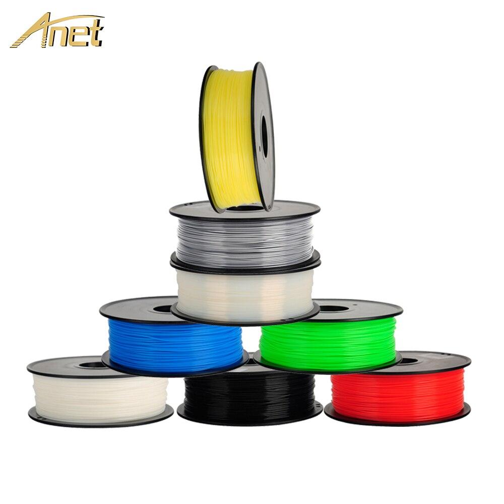 Anet 3d Impressora de Filamento 1.75 milímetros 0.5 kg/1 kg/spool PLA ABS Materiais de Impressão para a Impressora 3D caneta 3D extrusora 3d Filamento Plástico
