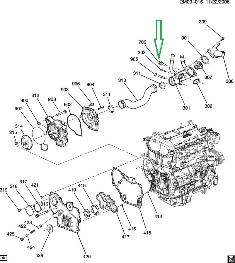 gmc acadia oxygen sensor location