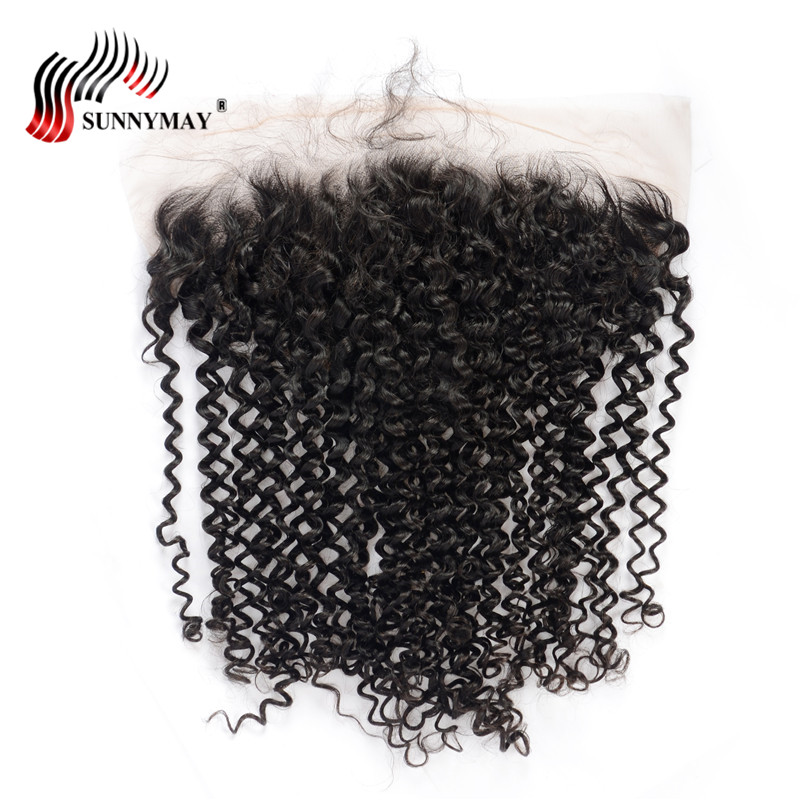Sunnymay Lace Frontal Closure Kinky Curly Brazilian Virgin Hair 13x6 Pre Plcuked Lace Frontal With Baby Hair For black Women