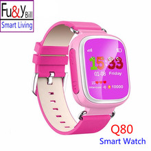Fu&Y Bill Q80 Children's GPS Positioning Smart Phone Watch 1.44 Inch Color Anti Lost Two-way Call Watch PK Q50 Q60 Q90 Q730 Q750
