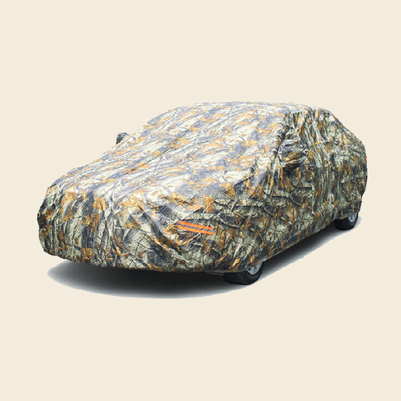 ФОТО Automotive exterior accessories maple leaf camouflag car cover,polyester taffeta and PP cotton fabric