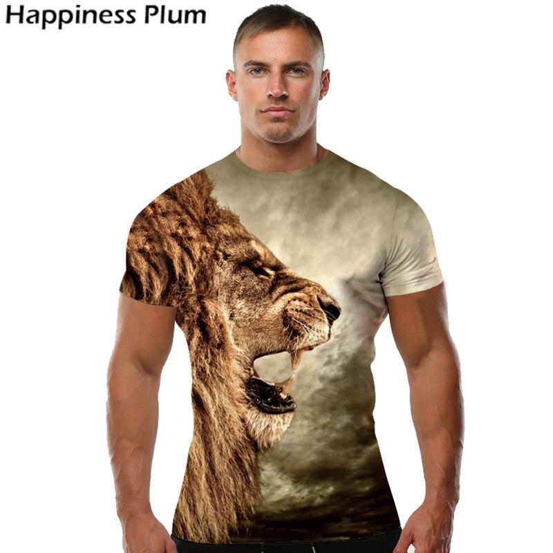 Lion T Shirt Universe Sky Galaxy Men Shos