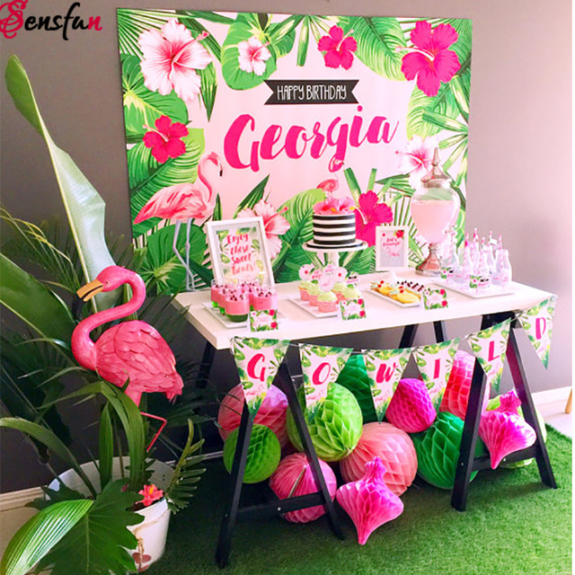 Tropical Style Beach Party Backdrops Forest Newborns Kids ...