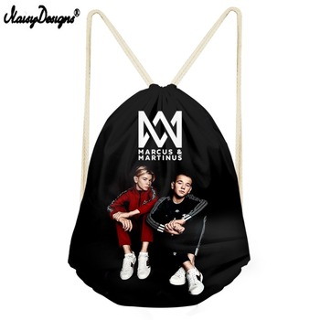 cdb8fa6833cc2 Noisydesigns Marcus And Martinus worek sznurkiem dzieci plecaki dla  nastolatków dziewczyny małe torby do przechowywania plecak codzienny Mochila