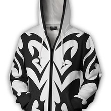 COSMORE Kingdom Hearts Hoodie Men Xemnas Costume Anime 3D Printed Sweatshirt Zipper