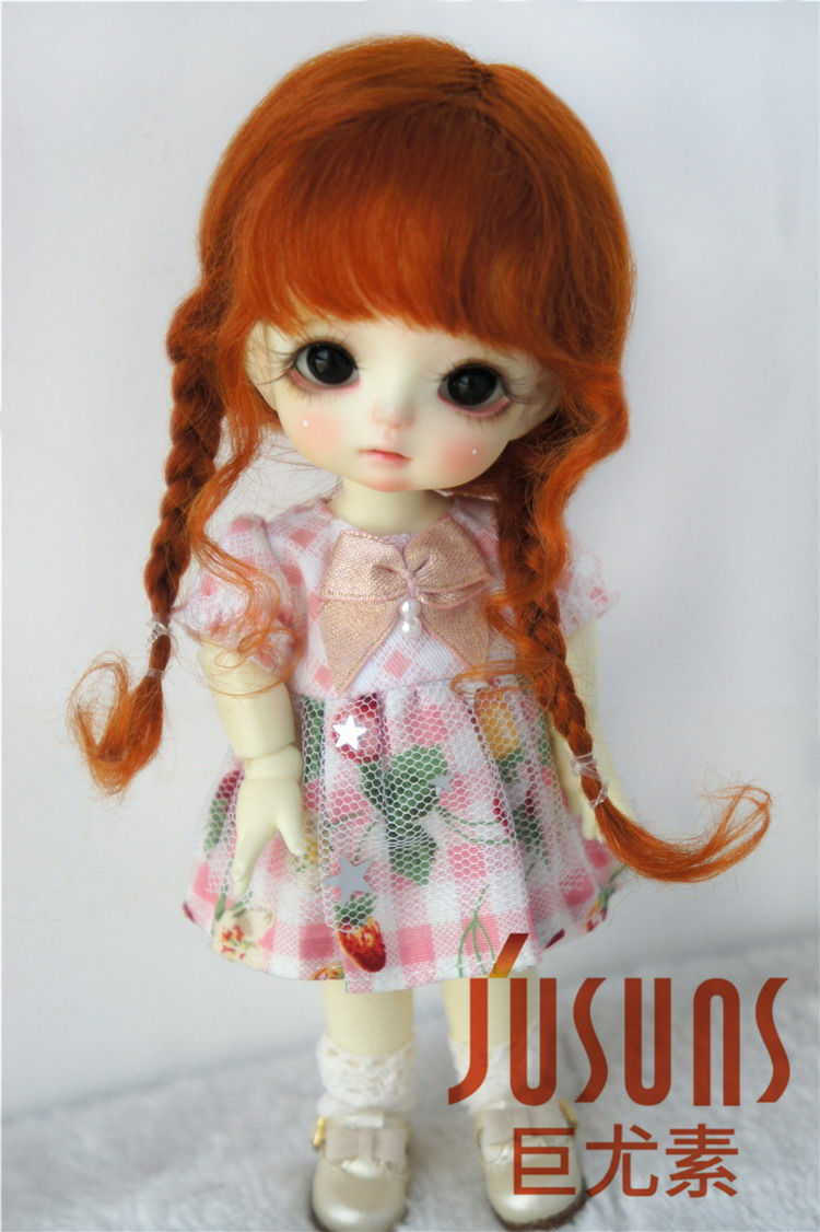 Wigs Doll Hair BJD Cute for 3-4inch/5-6inch/6-7inch Lovely Braids D2033B