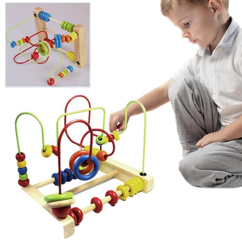 Новый Обучения Деревянные Круглый Перемещение Шарики Игрушки Развивающие Игры Игрушки для Детей Каваи Детские Игрушки Хобби Подарок FJ88