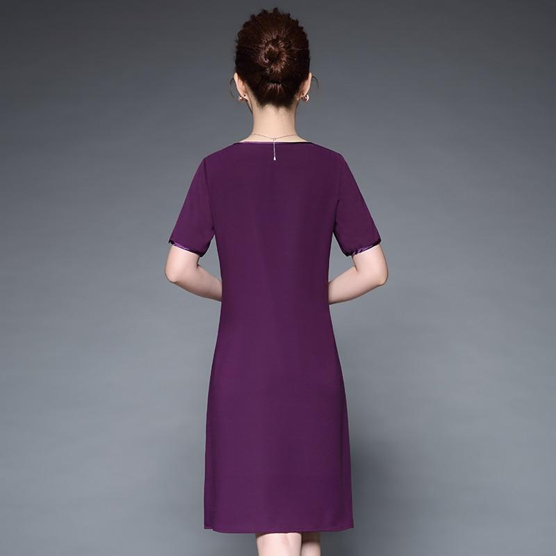 Grade Confortable Femmes Lâche Pourpre Boutique Zxryxgs Noble De Mode Robe Courtes Manches Lourd Élevé Broderie Élégante Marque ARqxxw5F