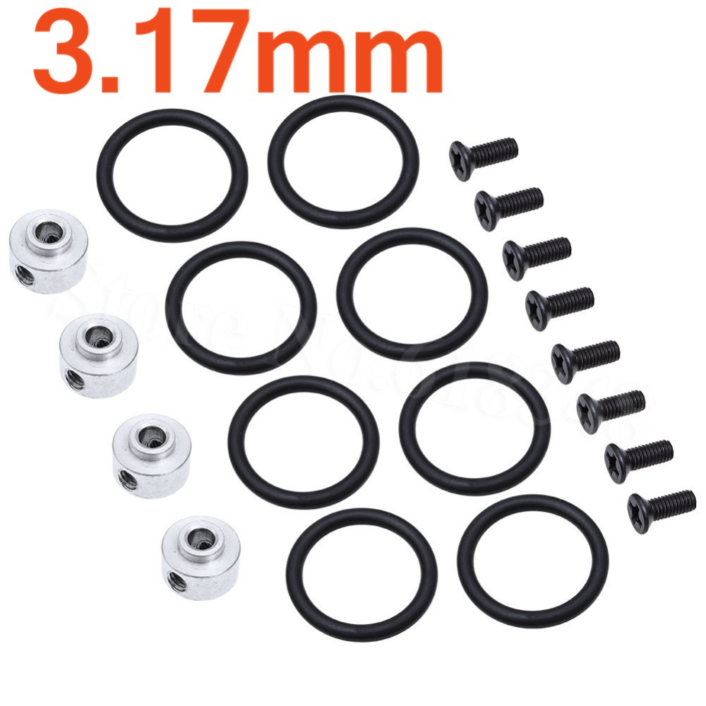 4pcs Airplane Propeller 3 17mm Prop Adapter Prop Saver with Screws Rubber O Rings Kit Electric