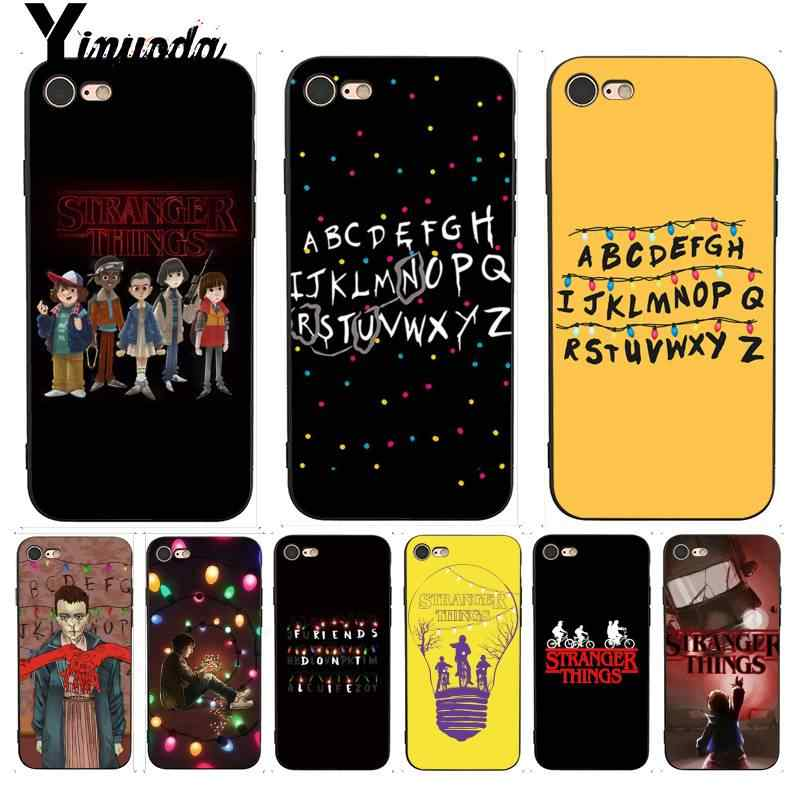 Yinuoda Stranger Things Christmas Lights Coque Shell Phone Case for iPhone 7 X Case 6S 6plus 7 7plus 8 8Plus X 5 5S XS XR XSMAX