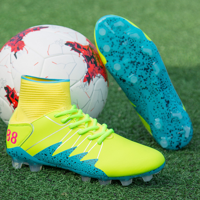 6f10f26c69c Outdoor soccer shoes men Spikes high ankle Athletic Professional Trainers  adult magista ag superfly original fg football boots 1