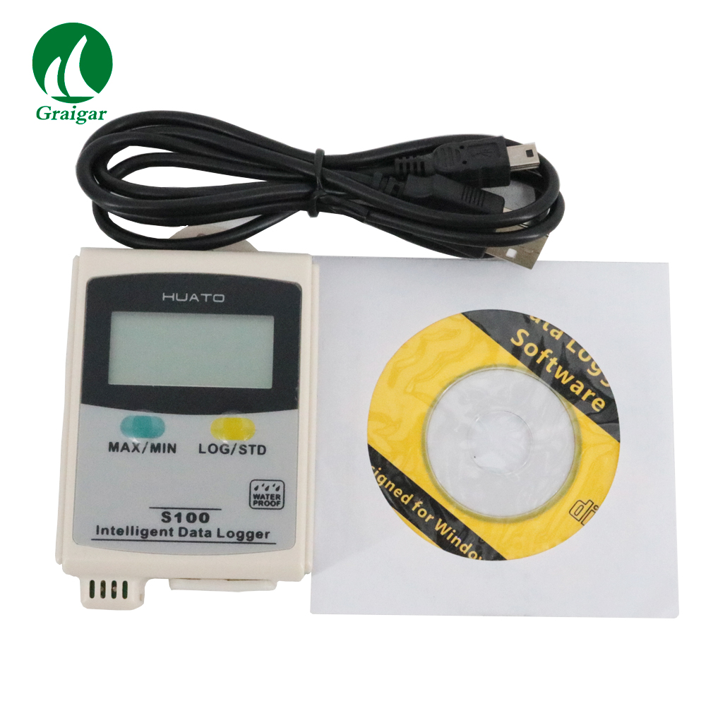 S100-TH température humidité enregistreur de données étanche Intelligent données Loger avec logiciel et USB