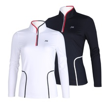 2016 new arrival golf women's long-sleeve T-shirt autumn and winter stand casual sports