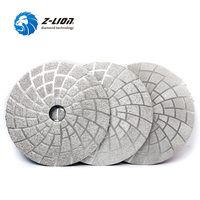 Z LION 5 3pcs Set Vacuum Brazed Diamond Polishing Pads 125mm Diameter Dry Wet Grinding Wheel