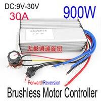 NEW 30A Brushless motor controller DC 9V 12V 24V 30V Motor Drive pwm 900W bldc motor controller Forward Reversible