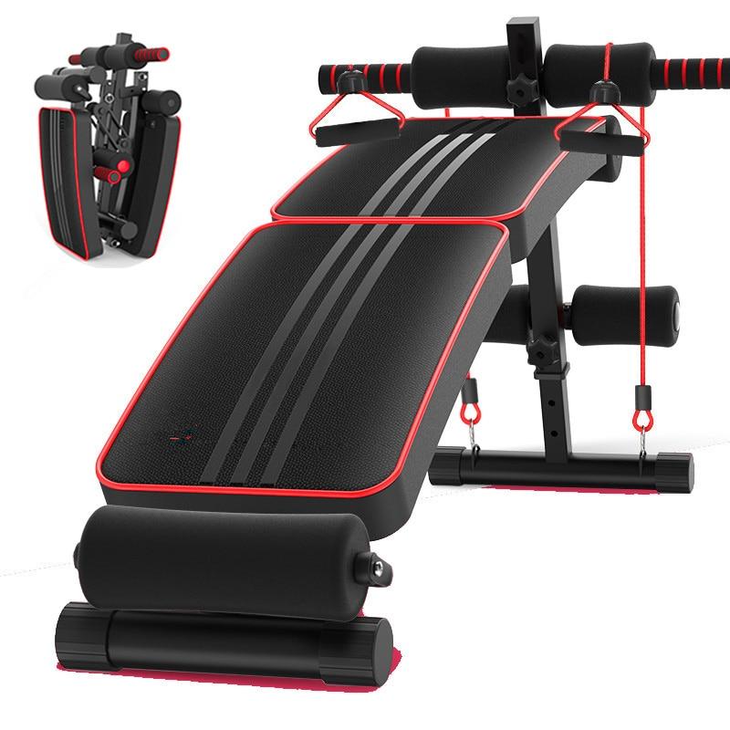 Pliant réglable Diminué S'asseoir Bord Mutifunctional Abdominale Banc Home Gym Fitness Banc-Crunch Push up