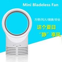 Creative mini cooler fan desktop portable dormitory office electric bladeless fan home 6W small cooling ventilator