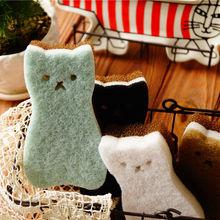 4 шт./компл. милый кот Форма губки тостов улыбка овощи железные мочалки для мытья посуды высокой плотности из волшебного спонжа Кухня расходные материалы