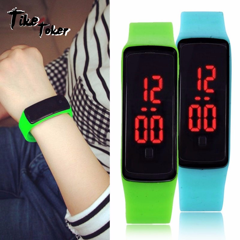 Tiker Toker,Men Women Digital Led Sport Watch Casual Silicone Watches Waterproof Wristwatch Bracelet Relogio Masculino Clock 8