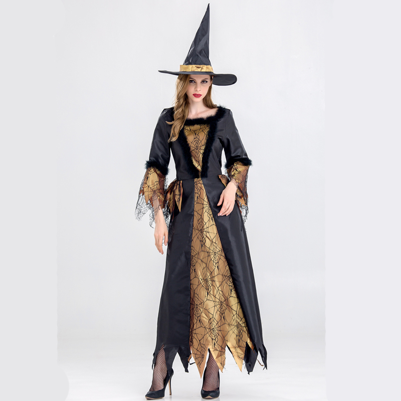 Halloween sexy princess robes cosplay costume witch costume Sexy with high hat magic show uniforms