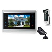 Homefong 7 inch Video Door Phone Video  Doorbell Camera Color CCTV Color Home Intercom System 7″ Monitor 2 Outdoor HD Camera 2V1