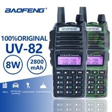 Baofeng UV-82 двухканальные рации 10 км двойной PTT двухстороннее радио Dual Band портативный UV 82 трансивер UV82 Woki токи Любительское радио, Си-Би радиосвязь станции