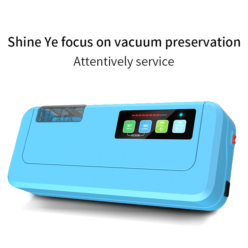 Fast Shipping 2018 New Household Food Vacuum Two Colors Sealer Packaging Machine P-290 Vacuum packer Give 10PCs Vacuum Bags shineye 220v 110v household food vacuum sealer packing machine film vacuum packer container food sealer saver include 10pcs bags