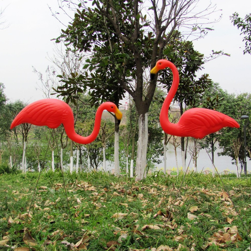 Flamingo garden ornament - Fast Sipping 10 Pairs Plastic Flamingo Garden Yard Decoration Garden Ornament Wedding Ceremony Decoration China