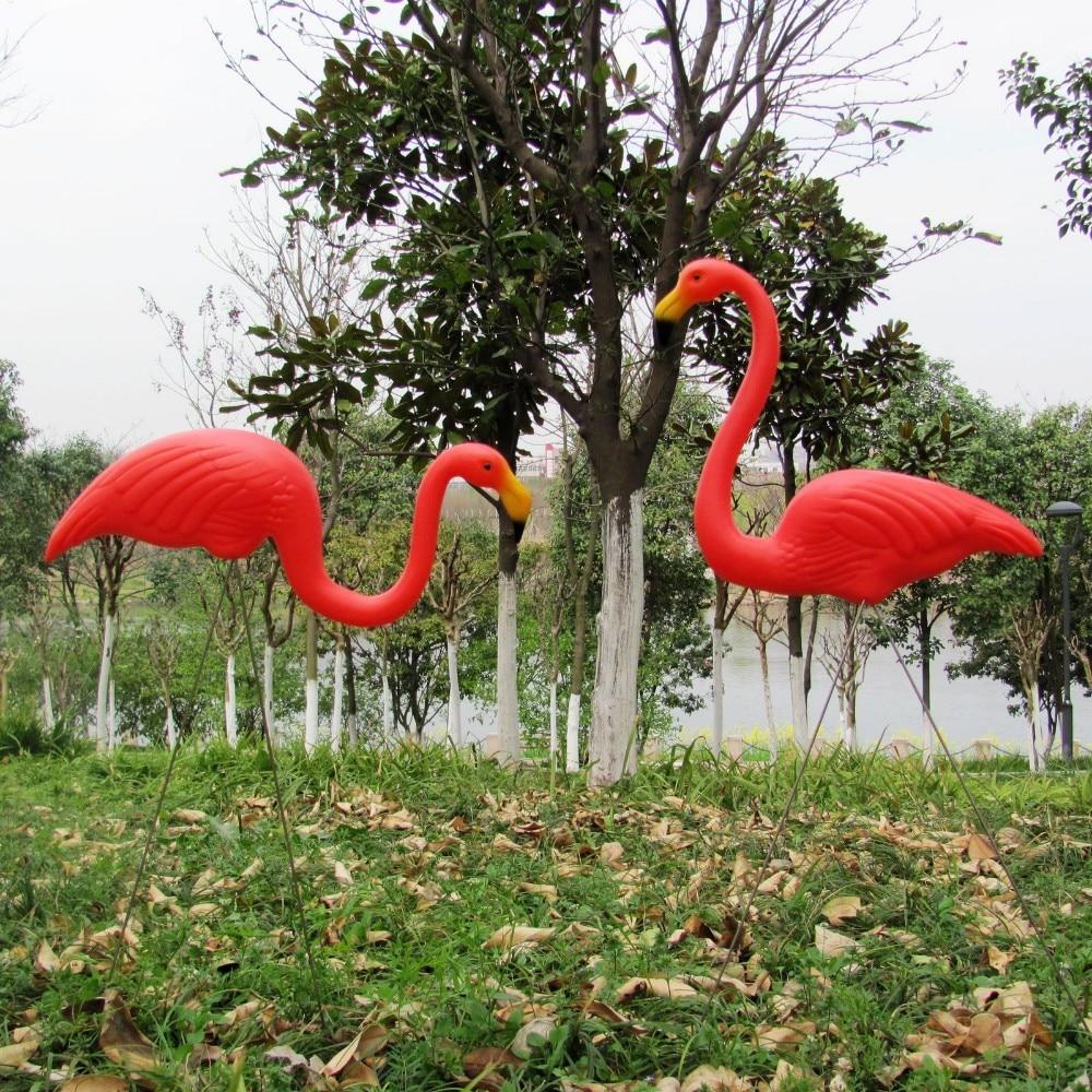 Fast sipping 10 pairs plastic flamingo garden yard decoration garden ...