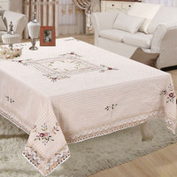 Handmade Polyester Floral Weave Lace Tablecloth Square Table Cloth For Wedding Party Table Cover Home Decoration