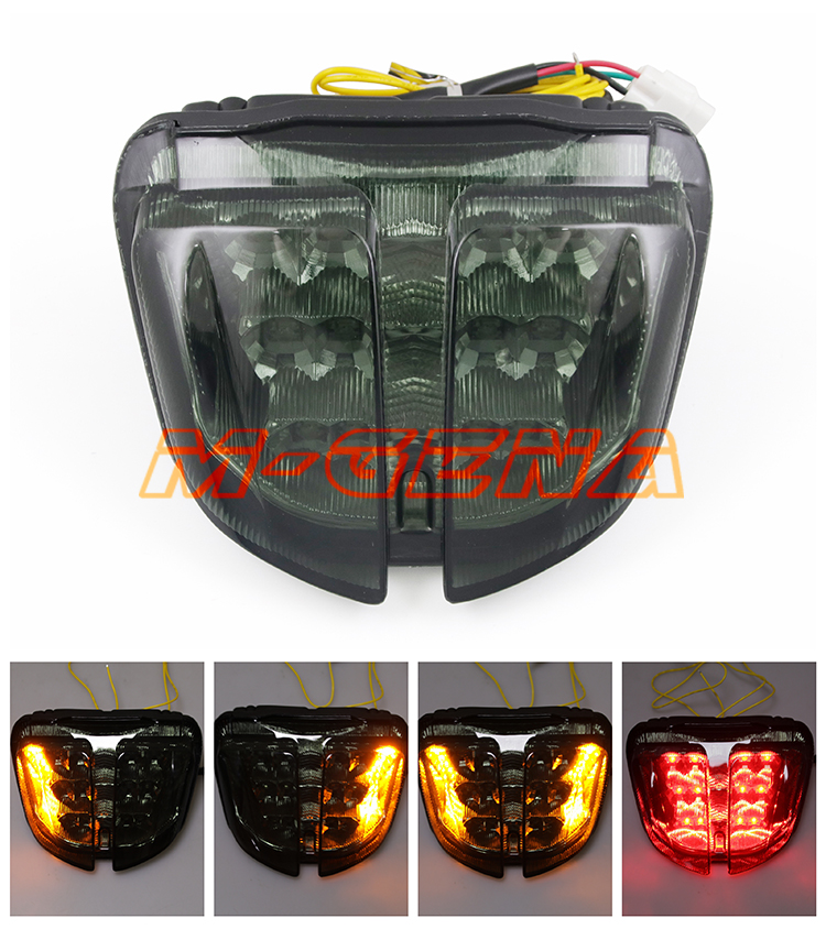 Motorcycle LED Rear Turn Signal Tail Stop Light Lamp Integrated For GSXR600 GSXR750 GSXR 600 750 K6 2006 2007 06 07Motorcycle LED Rear Turn Signal Tail Stop Light Lamp Integrated For GSXR600 GSXR750 GSXR 600 750 K6 2006 2007 06 07