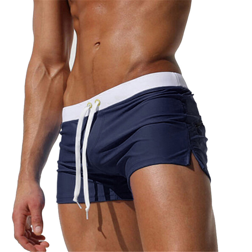 High Quality Sportswear   Board     Shorts   Mens Sexy Swimwear   Shorts   Low Waist Boxer   Shorts   Navegar Man Adjustable   Board     Shorts   D025