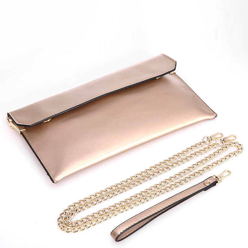 Ladies Genuine Leather Party Wedding Clutches Bag Female Envelope Bags Small Chain Shoulder Crossbody Bag Women Sacoche Femme
