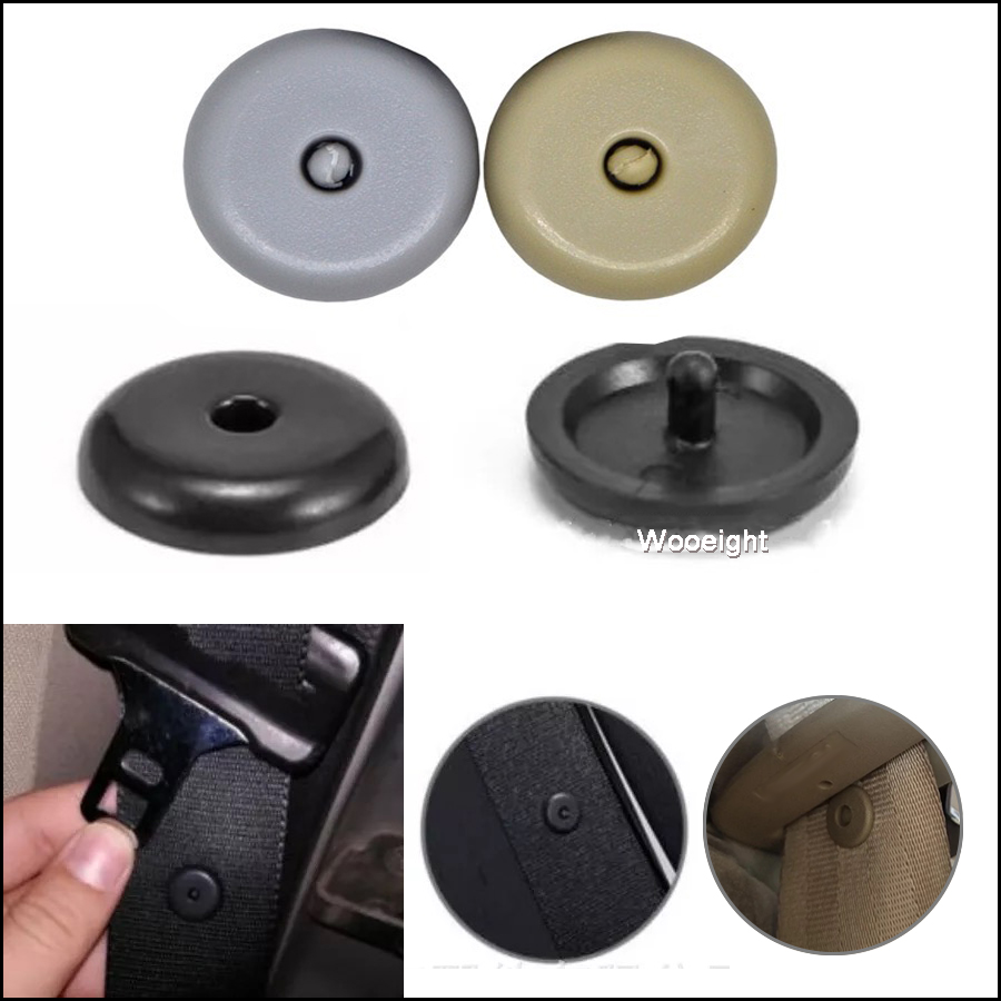 50Sets Safety Car Parts Seat Belt Stopper Spacing Limit Buckle Clip Universal Plastic Retainer Seatbelt Fastener Stop Button (5)