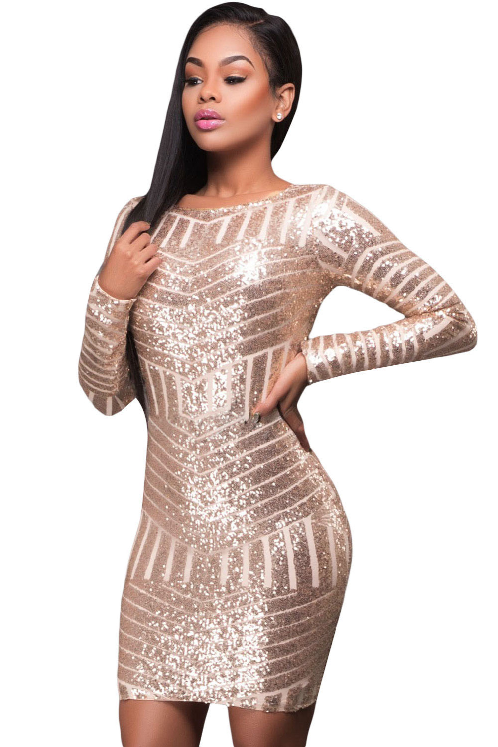 Online Get Cheap Sparkly Sequin Gold Dresses -Aliexpress.com ...