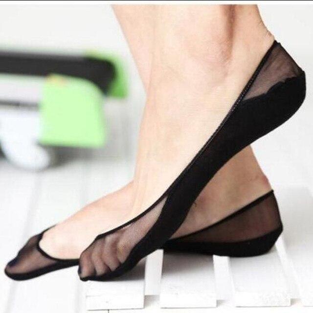 d4cefde19182e Fashion 1 Pair Women Cotton Lace Sock Antiskid Invisible Liner No Show Peds  Girl Low Cut