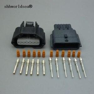 Shhworldsea kobieta mężczyzna 6Pin 0.6mm czujnik automatyczny złącze miernik przepływu powietrza złącze 7283-8850-30 7282-8850 -3 dla 350Z R35 GT-R V35