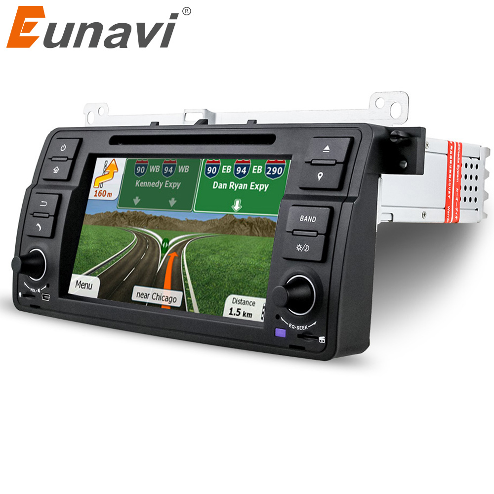 Eunavi 7 inch single 1 din Car DVD Player for BMW E46 M3 3Series MG Rover GPS Navigation 1 Din Car Radio Stereo with bluetooth isudar car multimedia player gps for bmw e46 m3 mg zt rover 75 canbus radio capacitive touch screen dvd player bluetooth ipod