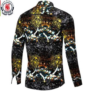 Image 2 - Fredd Marshall Neue 2018 Männer Marke Kleidung Slim Fit Hip Hop Shirt Männer Langarm 3D Drucken Hawaiian Shirt Casual streetwear 31