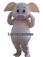 Professional Lovely Pig Mascot Costume Fancy Dress Cartoon Suit Adult SIZE