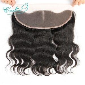 Image 2 - ALI GRACE cheveux brésilien corps vague HD dentelle frontale 13X4 oreille à oreille partie libre 100% Remy cheveux humains moyen brun dentelle frontale