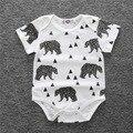 2017 nuevos mamelucos del bebé para niñas niños ropa de algodón animal del bebé ropa de recién nacido bebé ropa de los muchachos