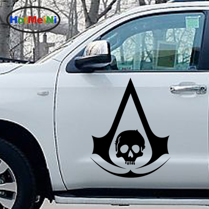 HotMeiNi 2 X Cold Water Droplets Shape Pirates Assassins Creed Kull Car Sticker for Wall SUV Window Door Vinyl Decal 9 Colors