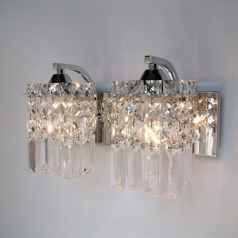 Crystal Wall Lamp Living Room Modern Wall Lamps bathroom wall lighting Modern Crystal Wall Lights dressing table Mirror sconces цена 2017