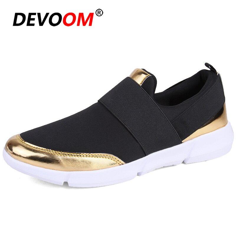 Mulher Sapatos Baixos 2018 Verão Das Mulheres de Malha marca Deslizar sobre tênis Branco Das Senhoras Sapatos de salto Baixo Pé Apartamentos Sapatos Femininos 42