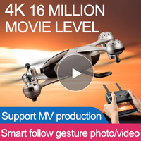(2019 New Arrival)SMRC M6 4K RC Drone HD Gimbal Double Cameras WIFI FPV Quadcopter AltitudeHovering Gravity Object Tracking