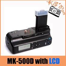 Meike MK-500DL MK 550D LCD Battery Grip for Canon 450D 500D 1000D Free Shipping meike mk 14ext mk 14 ext ettl macro ttl ring flash af assist lamp for canon 5d iii 6d 650d 500d 1000d 450d camera