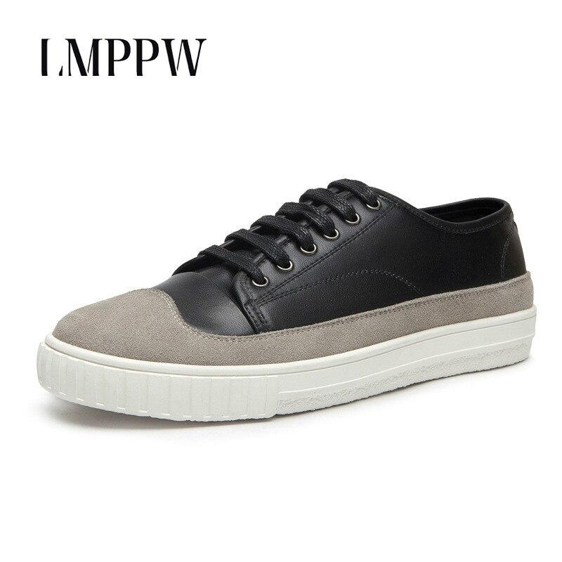 2018 nouveau Style de mode chaussures pour hommes confortable chaussures décontractées respirantes chaussures de sport antidérapantes de haute qualité noir blanc hommes chaussures plates