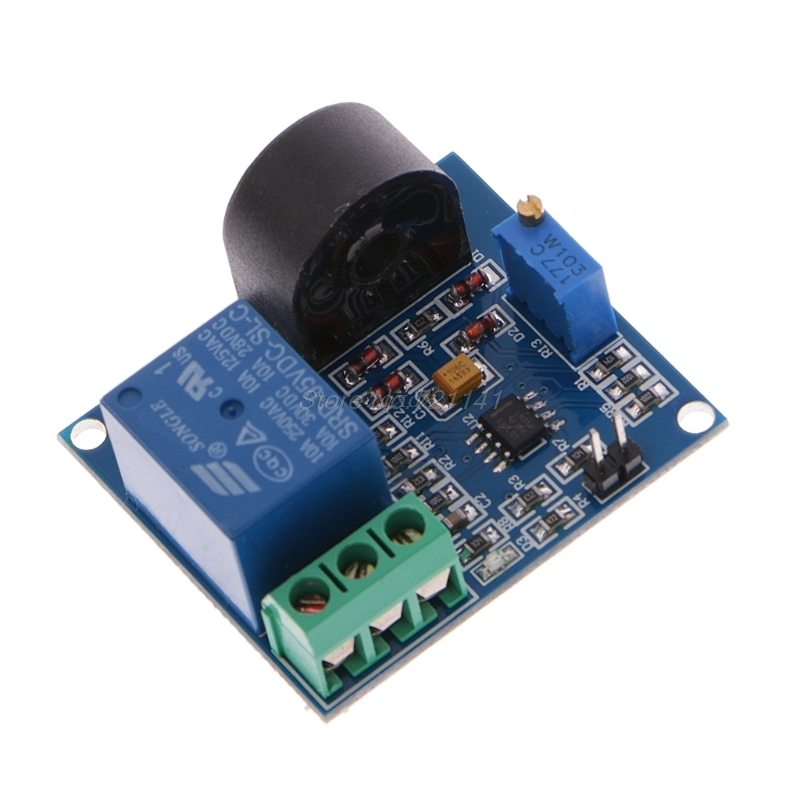 5A Overcurrent Protection Relay Module AC Current Detection Board Sensor 12V/5V Relay Dec12 Dropship
